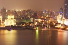 Noite 8 de Shanghai fotografia de stock