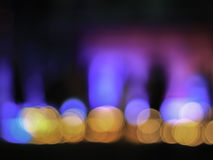 A noite abstrata do borrão ilumina o bokeh Imagens de Stock Royalty Free