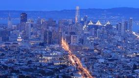 Noite ao timelapse do dia de San Francisco, Califórnia 4K filme