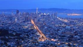 Noite ao timelapse do dia de San Francisco 4K filme