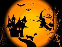 Noite assustador de Halloween Fotos de Stock Royalty Free