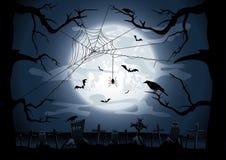 Noite assustador de Halloween Imagem de Stock