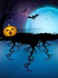 Noite assustador de Halloween. Fotos de Stock