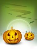 Noite assustador de Halloween. Imagem de Stock