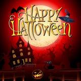 Noite assustador feliz de Dia das Bruxas Imagem de Stock Royalty Free