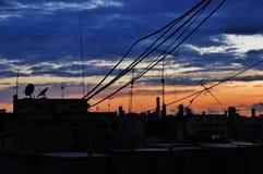noite Azul-alaranjada Fotografia de Stock