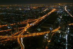 Noite Bangok foto de stock