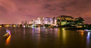 Noite Banguecoque Foto de Stock Royalty Free