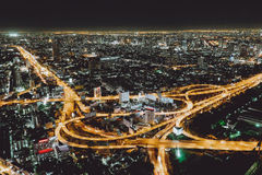 Noite Banguecoque, Tailândia Foto de Stock Royalty Free