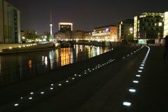 Noite Berlim Foto de Stock Royalty Free