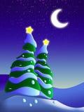 Noite bonita do inverno Imagens de Stock