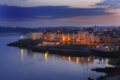 Noite bonita em Plymouth, Reino Unido imagens de stock