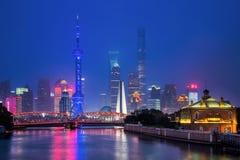 Noite bonita em shanghai Imagens de Stock Royalty Free