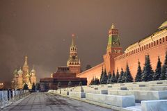 Noite bonita Moscou foto de stock