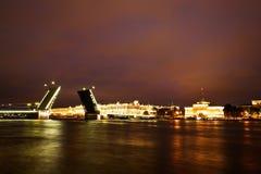 Noite branca em St Petersburg foto de stock