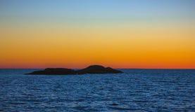 Noite branca no Lago Onega Imagem de Stock