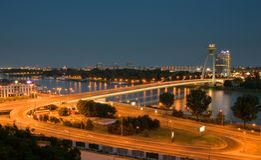 Noite Bratislava Imagem de Stock