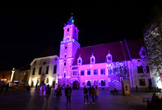 Noite Bratislava Fotos de Stock Royalty Free