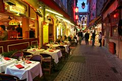 Noite Bruxelas #3. Fotos de Stock