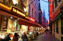 Noite Bruxelas. Fotos de Stock Royalty Free