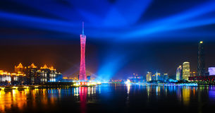 A noite cénico de Guangzhou Foto de Stock Royalty Free