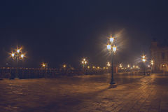 Noite cênico em Veneza Itália Foto de Stock Royalty Free