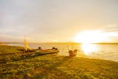 Noite calma do barco Foto de Stock Royalty Free