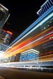 Noite colorida da cidade Fotos de Stock Royalty Free