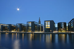 Noite Copenhaga Imagens de Stock Royalty Free