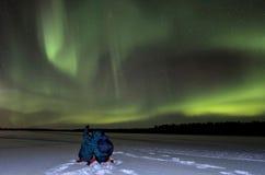 Noite da Aurora Fotografia de Stock Royalty Free