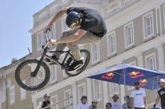 Noite da bicicleta de Red Bull - Trieste Imagens de Stock
