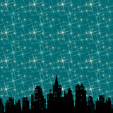 Noite da cidade ilustração do vetor