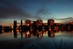 Noite da cidade Foto de Stock Royalty Free