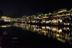 A noite da cidade antiga chinesa Imagens de Stock