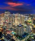 Noite da cidade de Banguecoque Fotografia de Stock