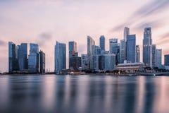 Noite da cidade de Singapura Foto de Stock Royalty Free