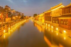 Noite da cidade do dangkou de Wuxi Foto de Stock