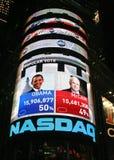 Noite da eleição de New York Fotos de Stock Royalty Free