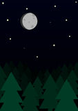 Noite da floresta Fotos de Stock