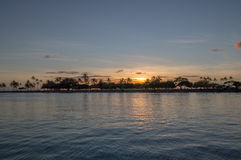 Noite da lagoa Imagem de Stock Royalty Free