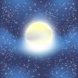 Noite da lua ilustração stock