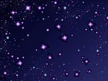 Noite da luz das estrelas Imagens de Stock Royalty Free