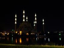 Noite da mesquita da cidade de Adana Fotos de Stock Royalty Free