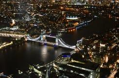 Noite da opinião de Londres Foto de Stock