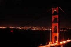 Noite da porta dourada Imagem de Stock