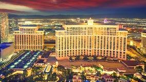 Noite da skyline de Las Vegas fotos de stock royalty free