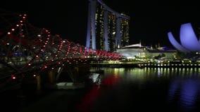 Noite da skyline de Singapura filme