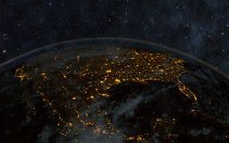 Noite da terra Foto de Stock Royalty Free
