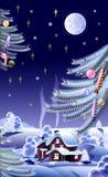Noite de ano novo Ilustração Royalty Free