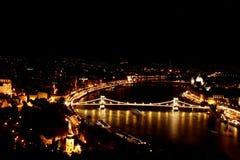 Noite de Budapest foto de stock